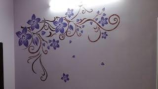 Asian Paints Stencil Design   Stencil Painting   Wall Stencil Painting   Wall Stencil Designs  