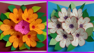 #DIY Art and #Crafts : #howto make surprise flower bouquet card for #valentinesday