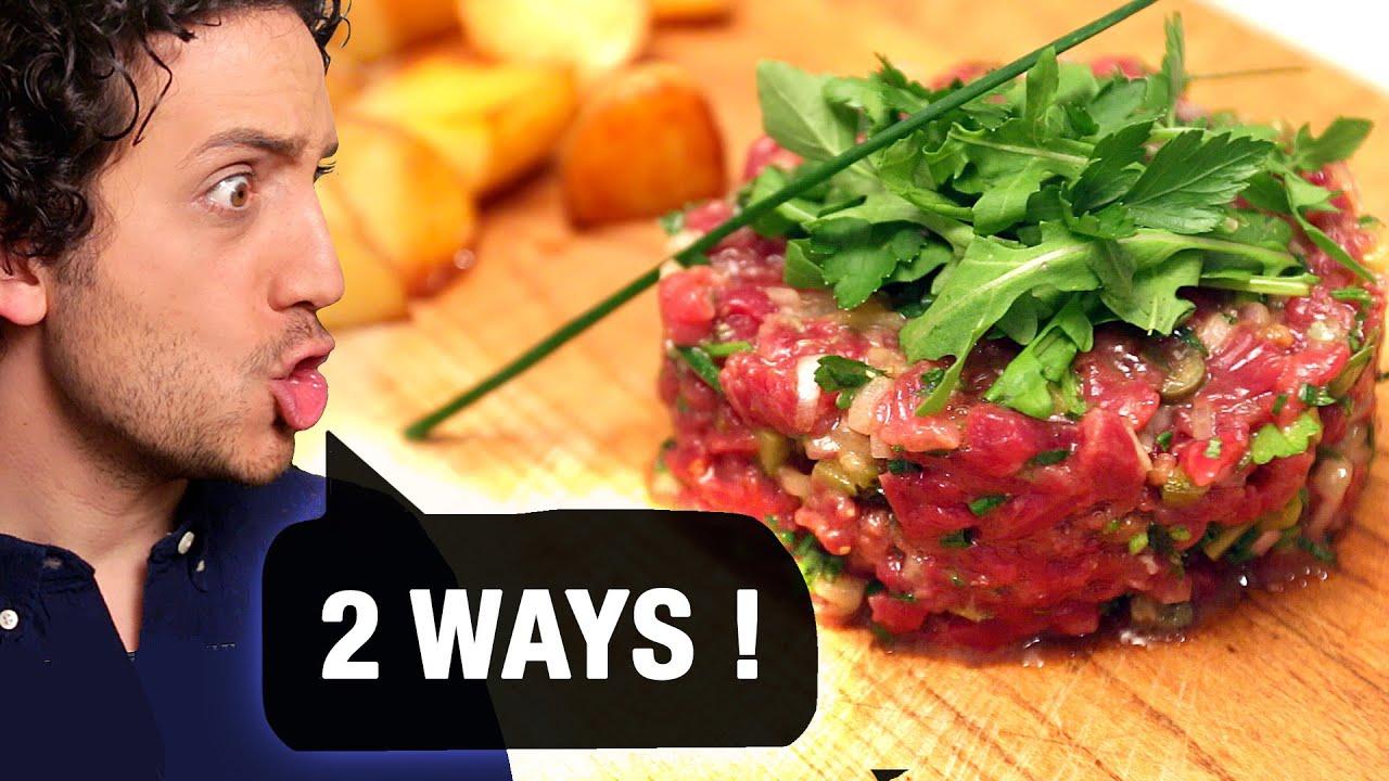 French Steak Tartare : Classic version + Vegetarian twist ! - YouTube