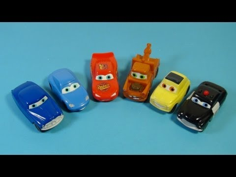 2006 DISNEY PIXAR CARS SET OF 6 KELLOGG'S CEREAL MOVIE TOY'S VIDEO REVIEW