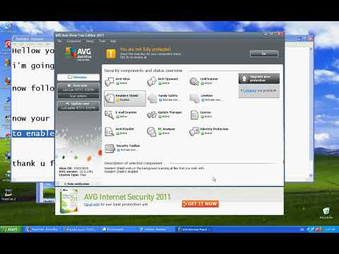 How To Disable avg anti-virus 2011