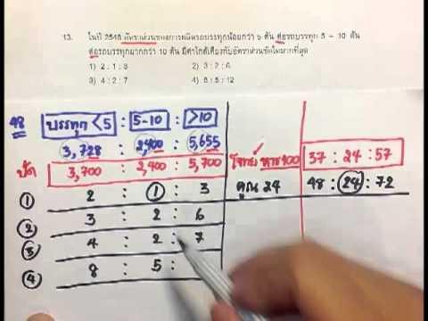 คลิปทำข้อสอบภาค ก. (คลิป-16 ตาราง-3 เฉลยข้อ 12, 13)