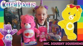 NEW CARE BEARS 2018 HAUL & SQUISHY SQUISHEMS SQUISHIES, BEST HOTTEST TOP TOYS FOR CHRISTMAS 2018
