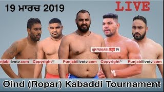 Live Oind Ropar Kabaddi Tournament 19 March 2019