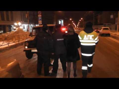 Пьяная девушка на Митсубиси Карисма, Воровского. Место происшествия 15.11.2016
