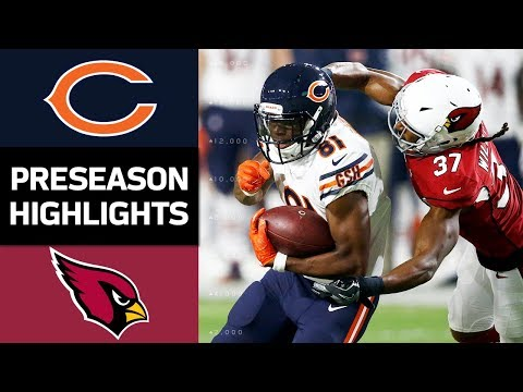 Bears Vs Cardinals Nfl Preseason Week 2 Game Highlights