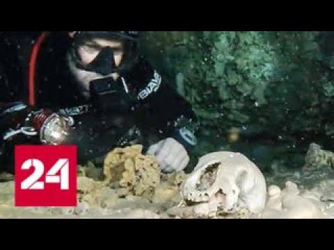 В подводной пещере в Мексике найдены останки древнего человека - Россия 24