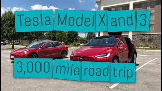 Tesla Model 3 and Model X Road trip through America! Part 1: Diaper changes, and falcon wing doors!