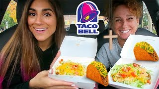 TACO BELL MUKBANG WITH MOMMA BUNNIES! | SPICY TOSTADA SECRET MENU