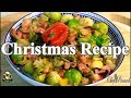 Brussels sprouts with smoked bacon/Christmas recipe