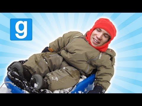 BEST SLED EVER!? - G-Mod Sledding Music Videos