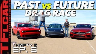 Will a Free Tesla Software Update Make a Model 3 Quicker Than a Hellcat or AMG? Thrifty 3 Ep.3
