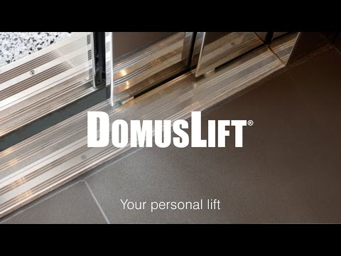 Home lift with automatic sliding doors