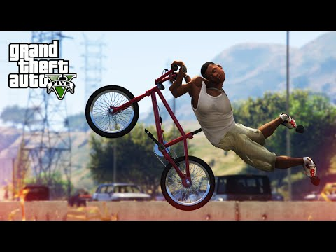 AWESOME BMX STUNT! - (GTA V Stunts & Fails)