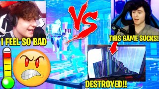 BUGHA *DESTROYS MONITOR* after NRG CLIX 1v1 in Throwback Cup! (Fortnite Season 3)