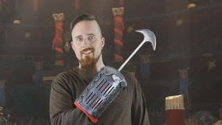 A look at a custom-made gladiator weapon: The Scissor