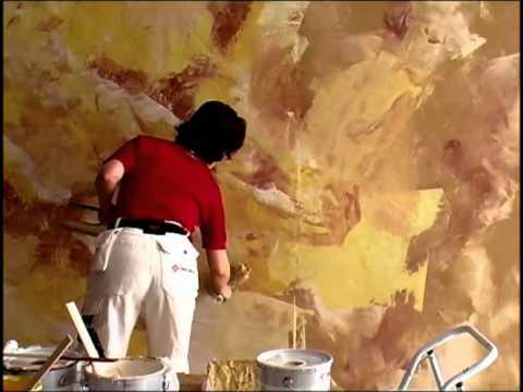 Napsütötte, márványhatású falfestés