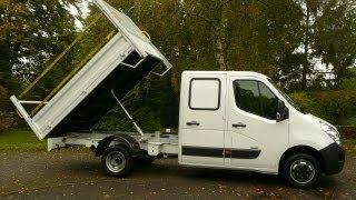 Vauxhall Movano R3500 2.3 CDTi (125BHP) LWB CREW CAB DROPSIDE TIPPER TRUCK