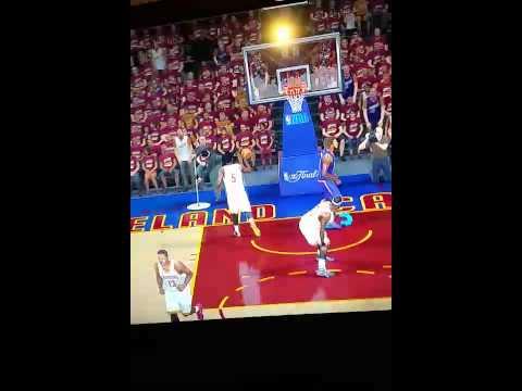 NBA 2k15 Dunking on LeBron James