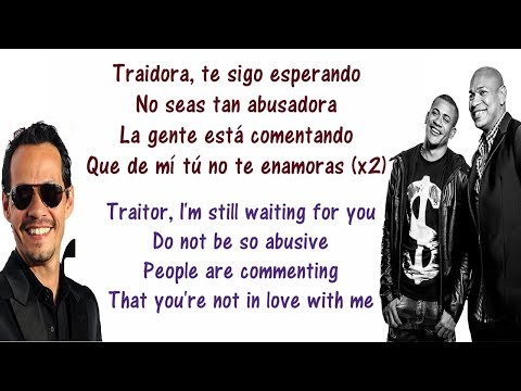 Traidora - Gente de Zona ft Marc Anthony - Lyrics English and Spanish - Translation & Meaning