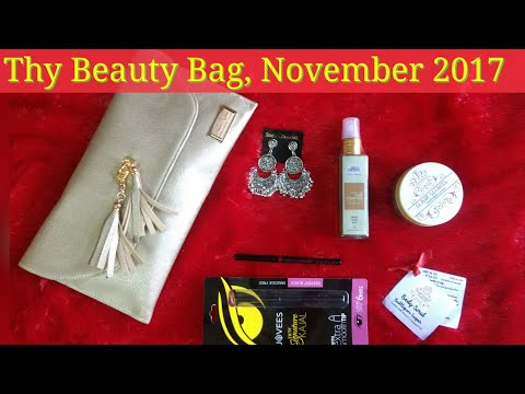Thy Beauty bag Nov 2017 | Organic Makeup and Beauty | Unboxing and Review