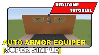 "Auto Armor Equipper [Super Simple] ""Redstone Tutorial"" (Minecraft Xbox TU19/PlayStation CU7/PS Vita)"