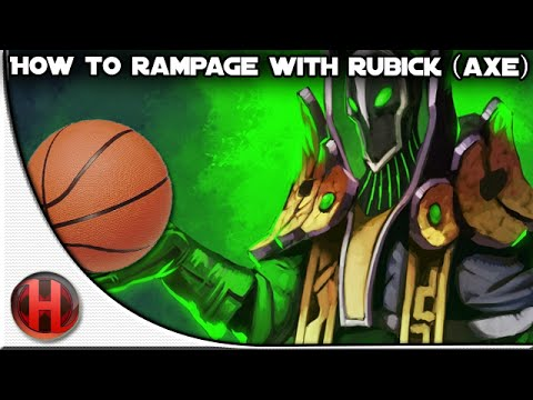 Dota 2  How to Rampage with Rubick DUNK IT