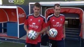 Urko Vera y Manuel, presentados como futbolistas de Osasuna