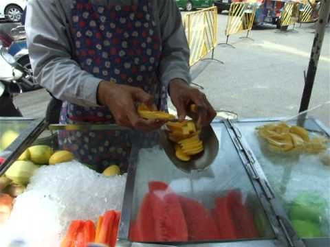 Thai Vendor Selling Fruits