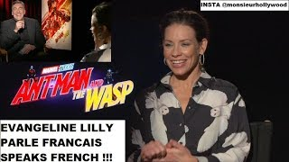 Evangeline Lilly interview in French, en français 100% ANT-MAN,