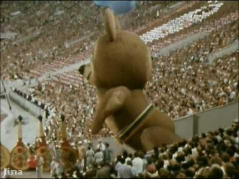 Закрытие  московской Олимпиады-80