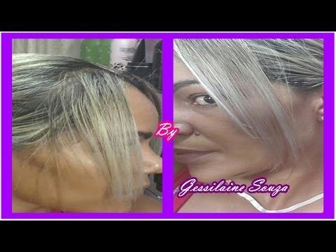 Tinta preta pra matizar cabelos platinados ou luzes por Gessilaine Souza