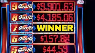 ★BIG WIN★QUICK HIT RICHES 7 Quick Hits Hit & Free Games Won | Great Session |Walking Dead Slot Play