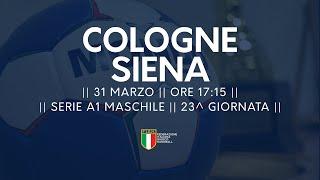 Serie A1M [23^]: Cologne - Siena 28-23