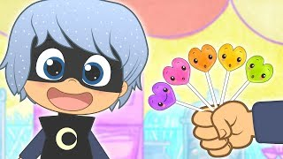 FINGER FAMILY with Luna Girl and Colored Lollipops 🍭 PJ Masks Songs
