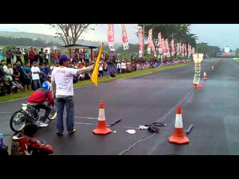 drag bike sentul - mio FFA 350cc pells kawahara ( Tble my menz )