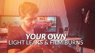 How To Create Your Own Film Burns Light Leaks or Lens Flares With Your Camera (Tutorial)