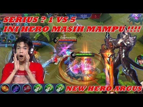 New Hero Argus Full Damage - Hero Baru Paling Gak Wajar OP Banget - Mobile Legends
