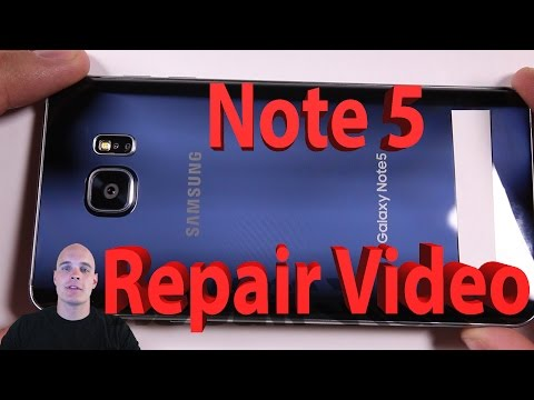 Samsung Galaxy Note 5 Screen Repair. Charging port fix. Battery Replacement video