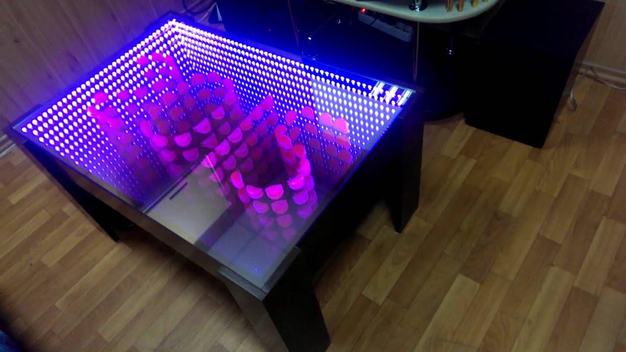 Как сделать стол с эффектом бесконечности своими руками 42