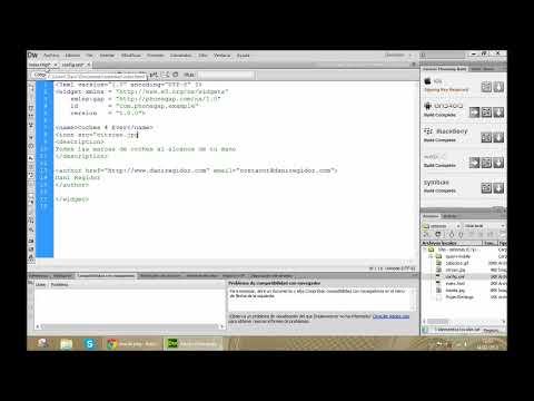 Como crear aplicaciones para Android muy facilmente gracias a Phonegap en DreamWeaver CS6 - Tutorial