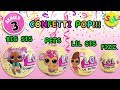 LOL Surprise Series 3: Confetti Pop Big Sister Doll + Lil Sis, Pets & Charm Fizz Unboxing Toy Review