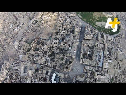 Drone Images Show Ancient City Of Aleppo In Ruins From War