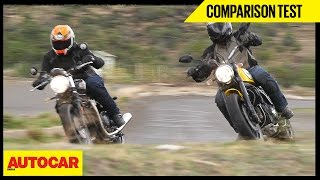 Triumph Bonneville Street Twin VS Ducati Scrambler Icon | Comparison Test | Autocar India