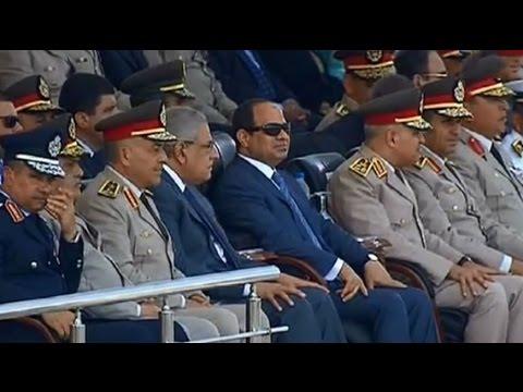 الرئيس السيسي يشهد حفل تخريج الدفعة 151 من معهد ضباط الصف المعلمين