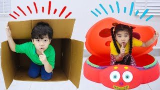 Suri and Sammy Pretend Play Hide and Seek with Toys | Fun Stay at Home Video for Kids