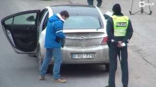 Vilniaus kelių policija švaros reidas: buvo stabdomi nešvarūs automobiliai