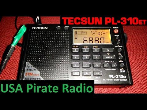 North American Pirate Radio received in Portugal - Tecsun PL-310ET