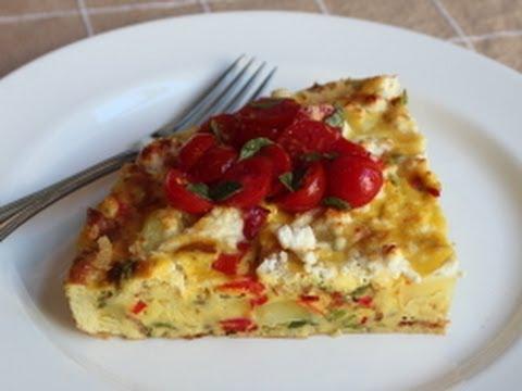 Potato & Pepper Frittata Recipe - Summer Vegetable Italian Omelet
