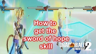 Dragonball xenoverse 2 How to get sword of hope
